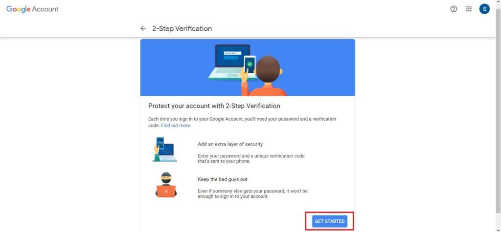 2 Step Verification Step 5