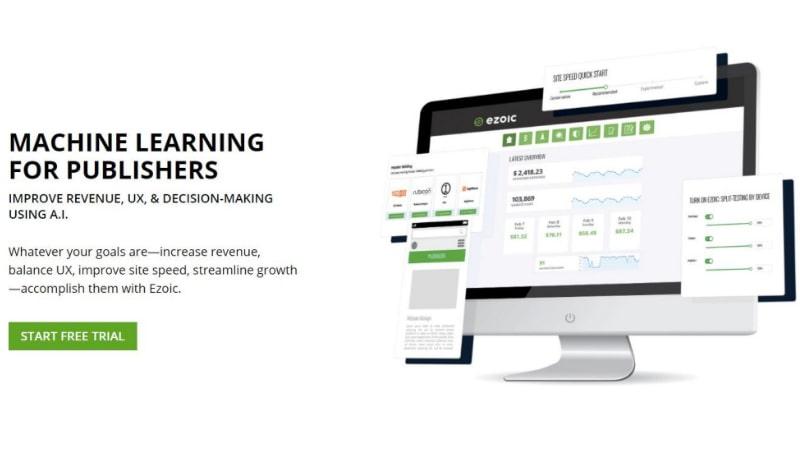 Ezoic.com को इस्तेमाल करके पैसे कमाए
