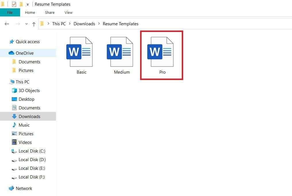 MS-Word File को ओपन करें