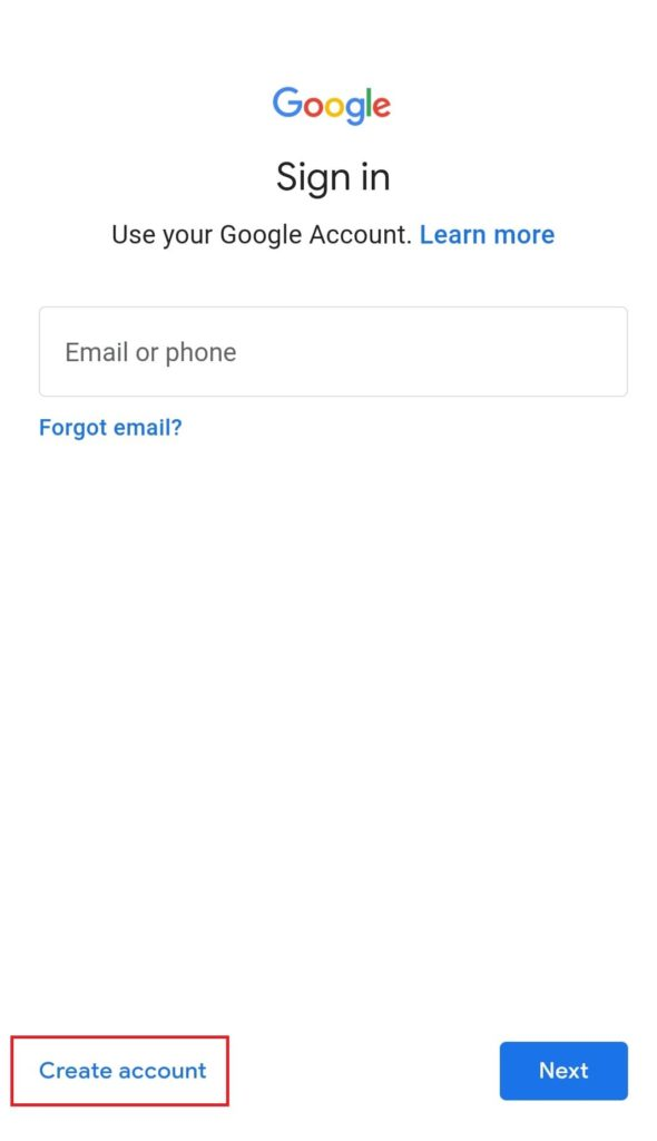 Mobile Se Email ID Kaise Banaye Step 3