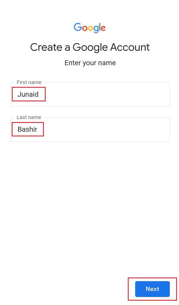 Mobile Se Email ID Kaise Banaye Step 4