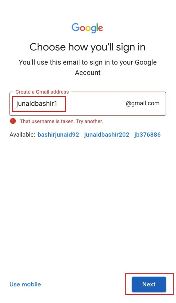 Mobile Se Email ID Kaise Banaye Step 6