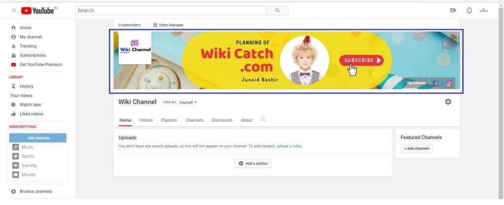 Youtube Channel Art Kaise Banaye Step 10